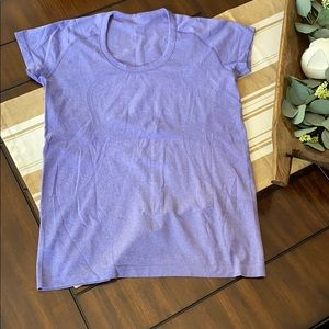 COPY - Lululemon Swiftly Crew shirt - purple- siz…